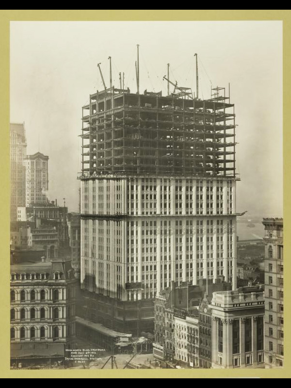 Woolworth Bldg. iron work April 4 1912