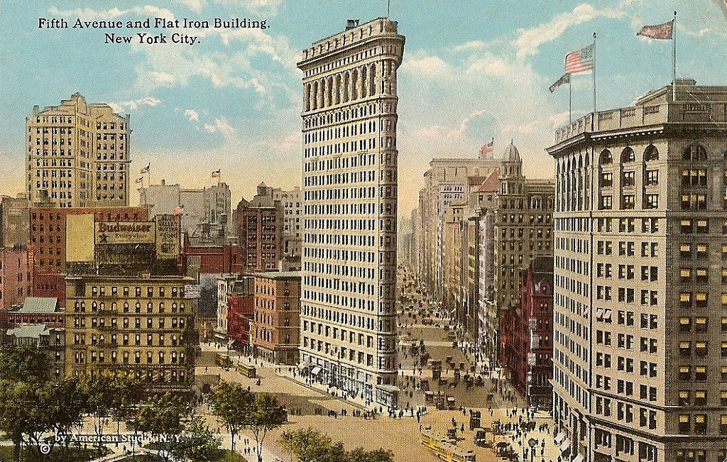 5th-avenue-and-flat-iron-building-ny-posted-1922
