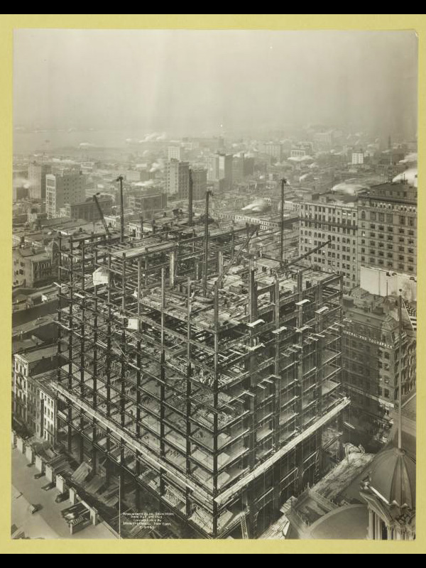 Woolworth Bldg. iron work February 2 1912